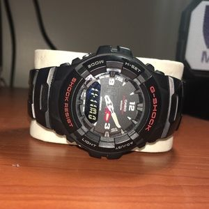 Black and Red G Shock Watch